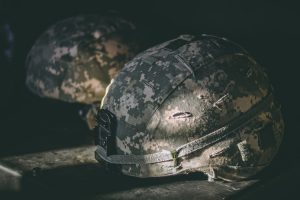 Two military helms.