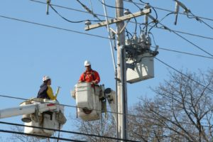 close-up of the two electricians