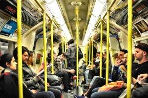 people in train - missing brooklyn