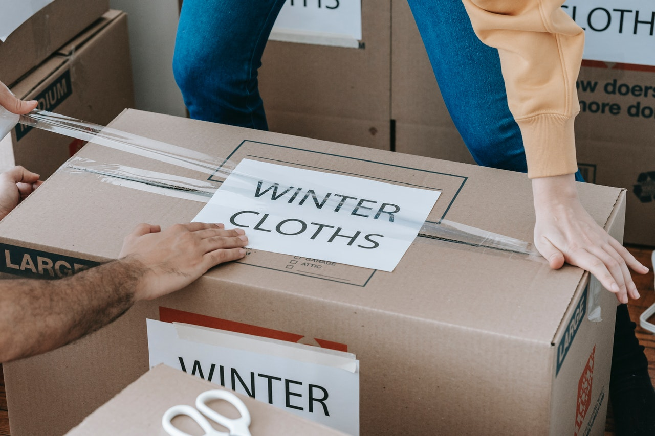 store away winter clothes