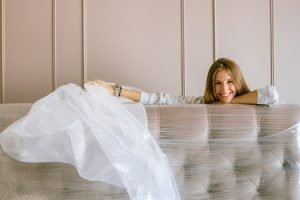 woman packing furniture for a move