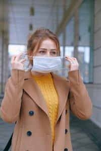 wear protective gear when moving an office amid coronavirus outbreak