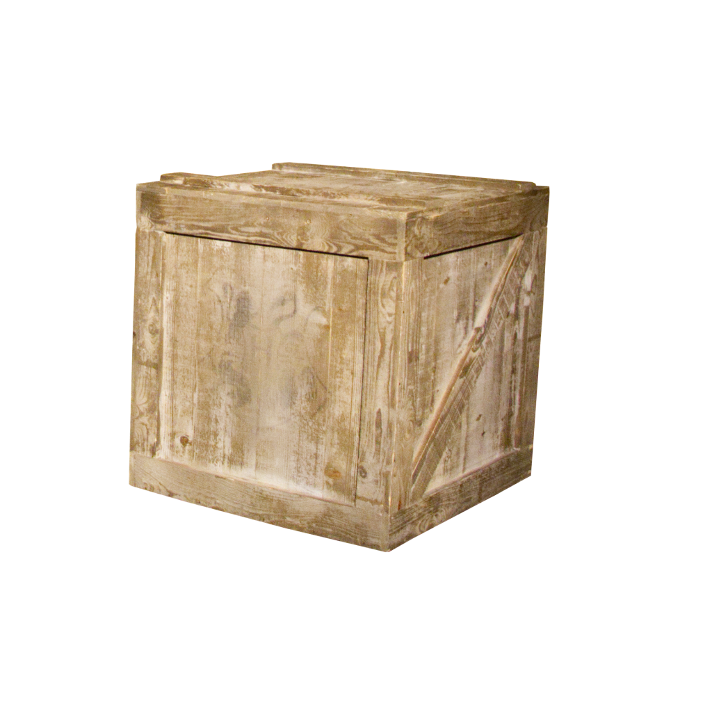 Wooden crate.