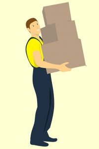 mover holding boxes - Park Slope Movers